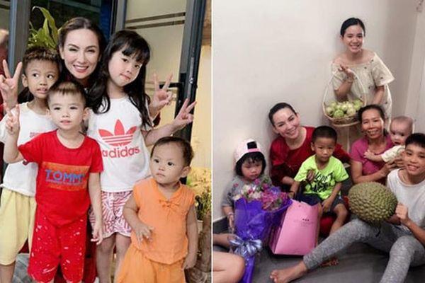 Ảnh thân thiết của Phi Nhung bên Hồ Văn Cường và dàn con nuôi