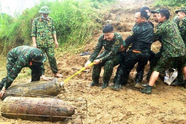 Tuyên Quang: Tiêu hủy an toàn 4 quả bom sót lại sau chiến tranh