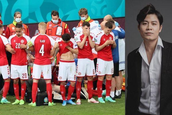 Nghệ sĩ Việt xúc động khi nhạc trưởng tuyển Đan Mạch Eriksen đột quỵ sân cỏ