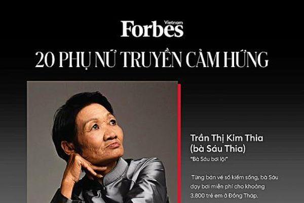 Tạp chí Forbes vinh danh bà Sáu Thia: Từ người bán vé số đến người dạy bơi miễn phí cho 3000 trẻ em