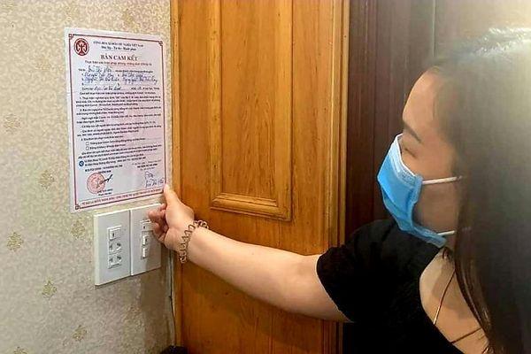 Hơn 92.000 hộ dân TP Hải Dương dán bản cam kết phòng, chống dịch Covid-19
