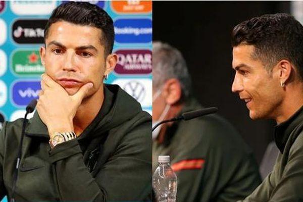 Nhìn cách Cristiano Ronaldo đối xử với chai nước đủ hiểu tại sao xuất sắc nhất thế giới