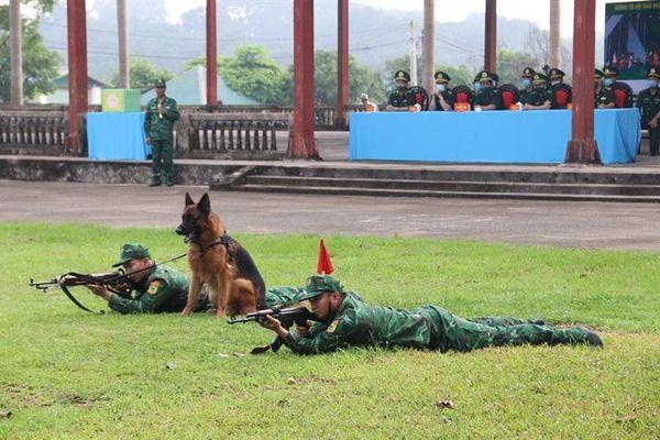 Kiểm tra Đội tuyển chó nghiệp vụ BĐBP tham gia Army Games 2021