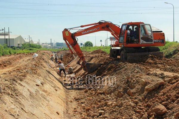 Bắc Giang: Tiếp tục cải tạo, nâng cấp hệ thống kênh tiêu thoát nước KCN Đình Trám