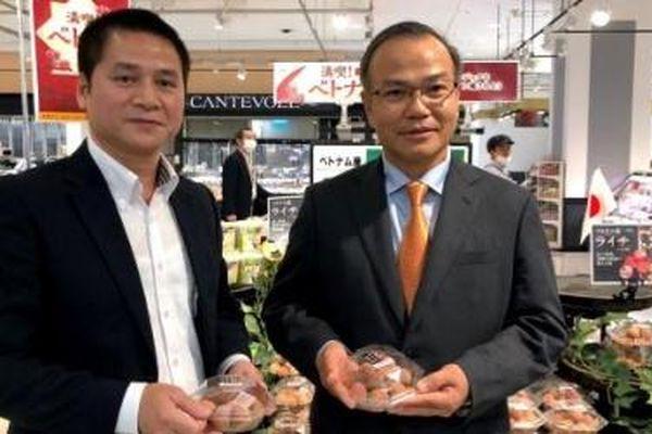 Đại sứ Việt Nam tiếp thị vải thiều trên đất Nhật