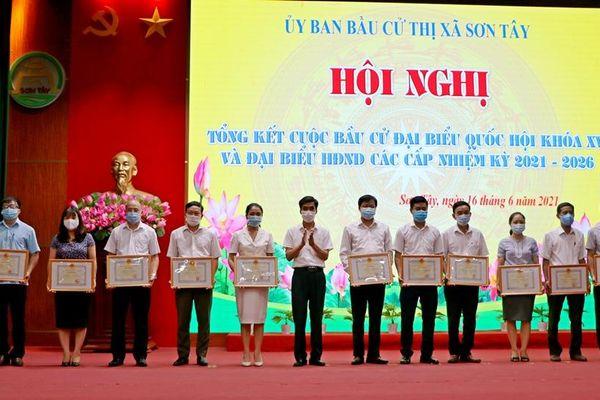 Sơn Tây tổ chức thành công cuộc bầu cử đại biểu Quốc hội khóa XV và HĐND các cấp