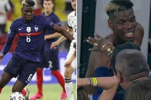Chỉ vì chạy lên khán đài để tặng áo, ngôi sao Paul Pogba của đội Pháp có thể bị UEFA phạt