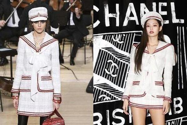 Không cao như siêu mẫu, Jennie vẫn 'chặt đẹp' người mẫu của hãng nhờ thần thái đỉnh cao