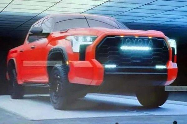 Rò rỉ hình ảnh Toyota Tundra 2022 trước ngày ra mắt