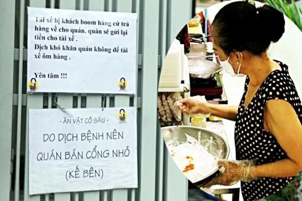 'Bảng thông báo lạ' của bà chủ quán ăn khiến shipper ấm lòng