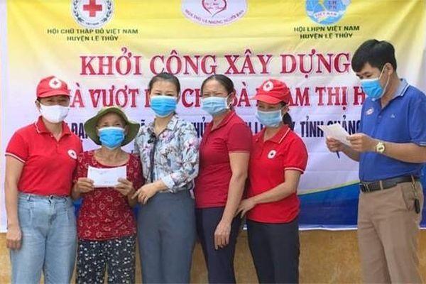 Quảng Bình khởi công xây dựng nhà vượt lũ cho thương binh Phạm Thị Huế
