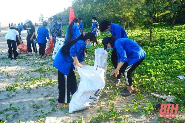 Huyện Quảng Xương phát động Chiến dịch Thanh niên tình nguyện hè và 'Hãy làm sạch biển' năm 2021