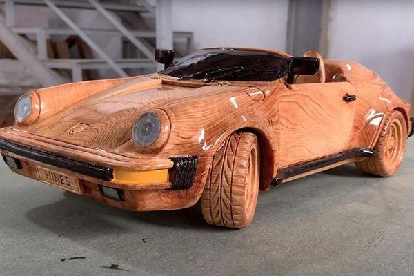 Porsche 911 Speedster gằng gỗ, hơn 26 triệu đồng của thợ Việt