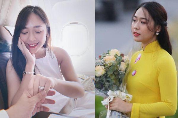 BTV VTV nổi tiếng với danh xưng 'nữ sinh tặng hoa Tổng thống Trump' bất ngờ được cầu hôn trên máy bay