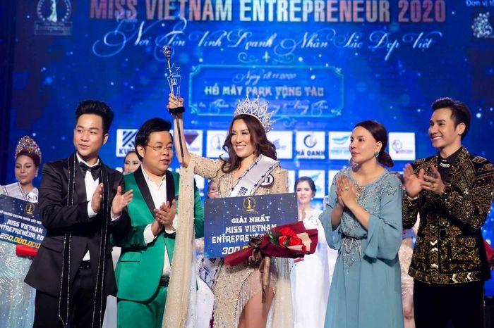 Quách Hiền Lương đăng quang Hoa hậu doanh nhân Sắc đẹp Việt 2020