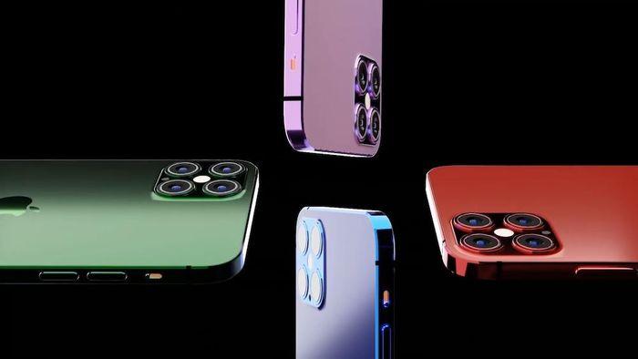 Mê mẩn với iPhone 13 có màn hình cong phủ kín cả 4 cạnh, 4 camera 'siêu to khổng lồ'