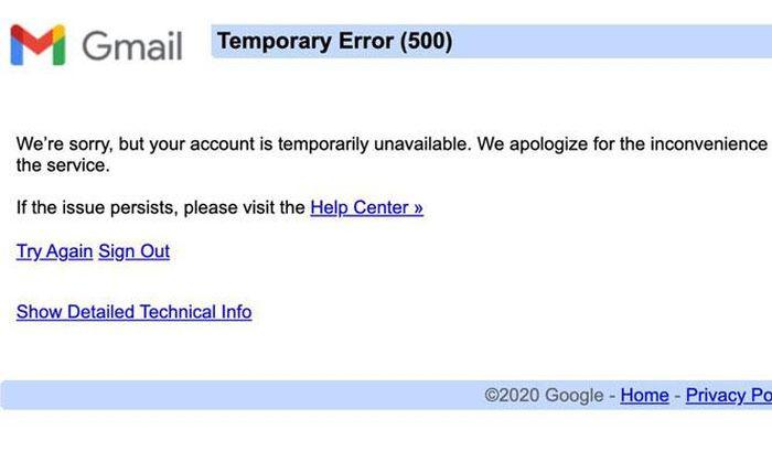 Dịch vụ Google ''sập nguồn'' trên toàn cầu là do máy chủ đăng nhập bị lỗi