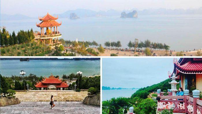 Những bức hình chụp từ chùa Cái Bầu hướng ra vịnh Bái Tử Long mênh mông sóng nước