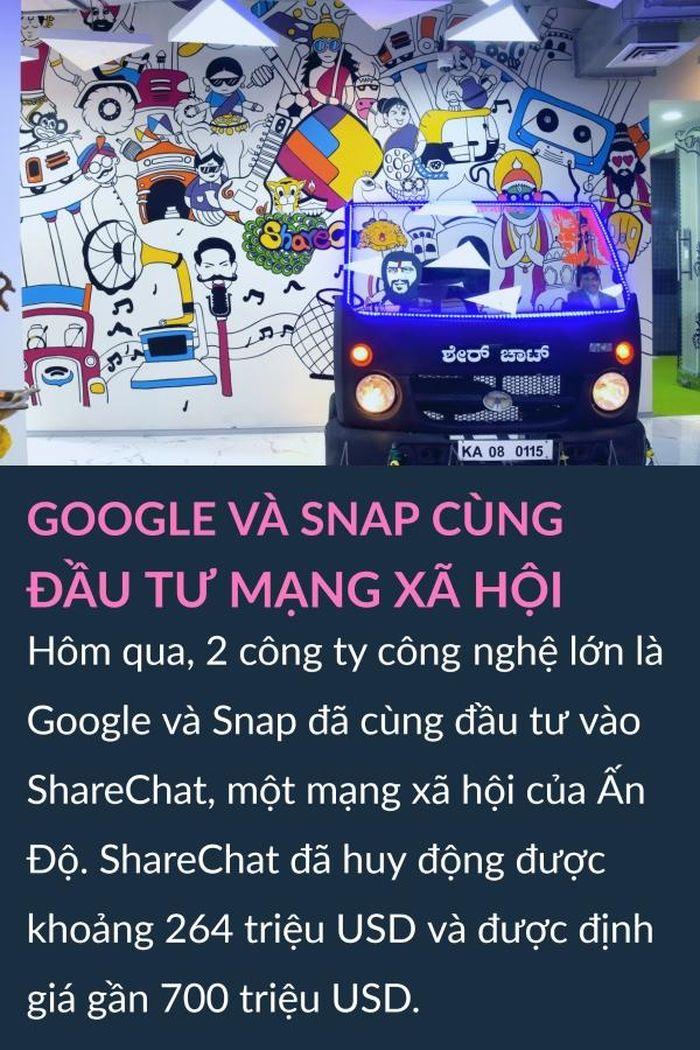 Google và Snap đầu tư mạng xã hội, Samsung ra smartphone mới trong tháng 1