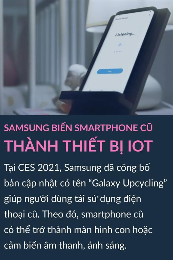 Samsung biến smartphone cũ thành thiết bị IoT, Sportify cho phụ huynh chia sẻ nhạc cho con