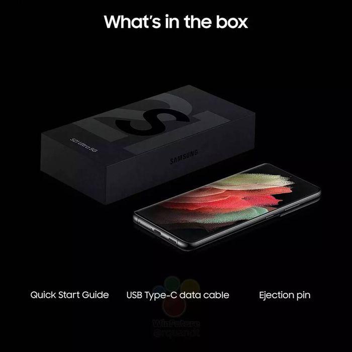 Lộ hình ảnh hộp đựng Galaxy S21 series mỏng dính: Không còn củ sạc, tai nghe