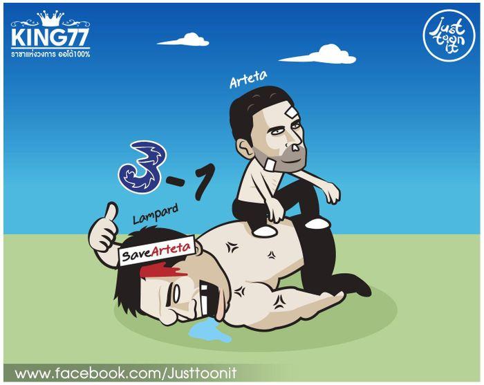 Ảnh chế: Arsenal đứt mạch toàn thắng vì Arteta muốn hòa như Mourinho