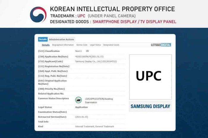 Samsung nộp bằng sáng chế 'camera ẩn dưới màn hình' cho smartphone và TV
