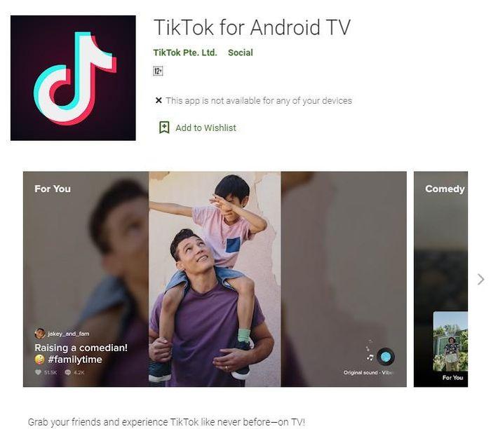 TikTok đã chính thức có mặt trên Android TV