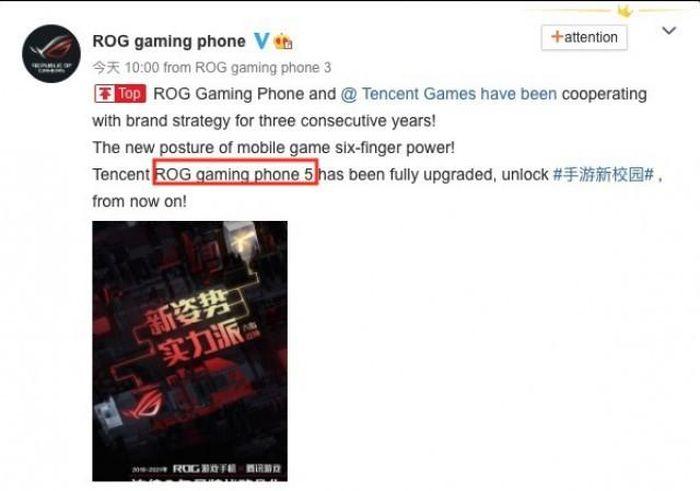 Asus xác nhận tên gọi ROG Phone 5