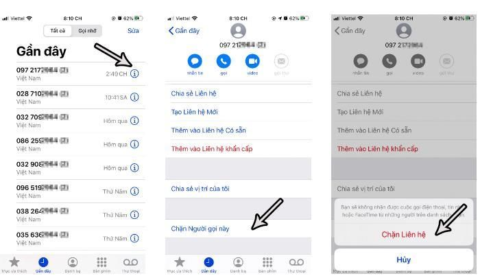 Thủ thuật chặn số điện thoại trên iPhone đơn giản nhất
