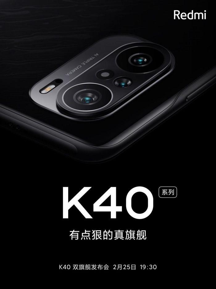Redmi K40 sẽ có cụm ba camera đặc biệt