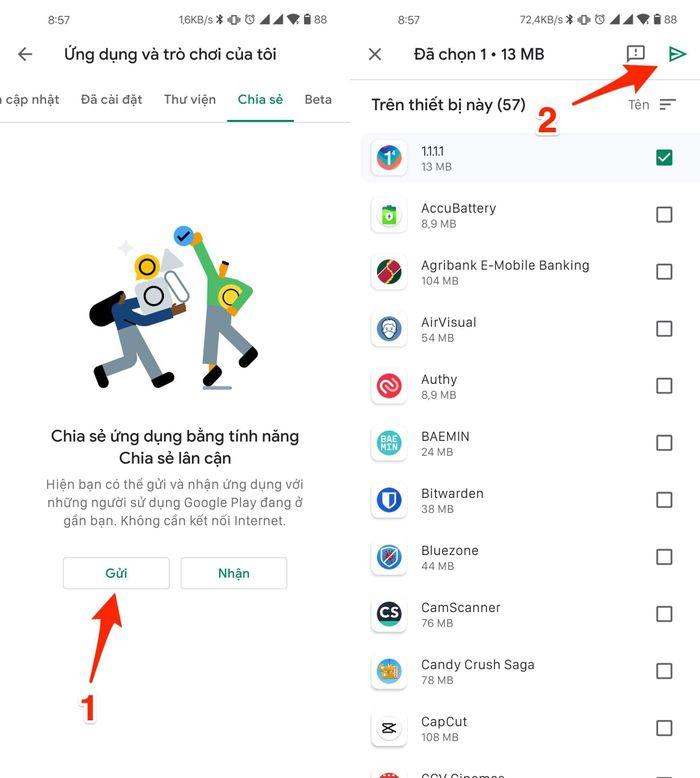 Cách chuyển ứng dụng siêu nhanh cho bạn bè bằng Google Play