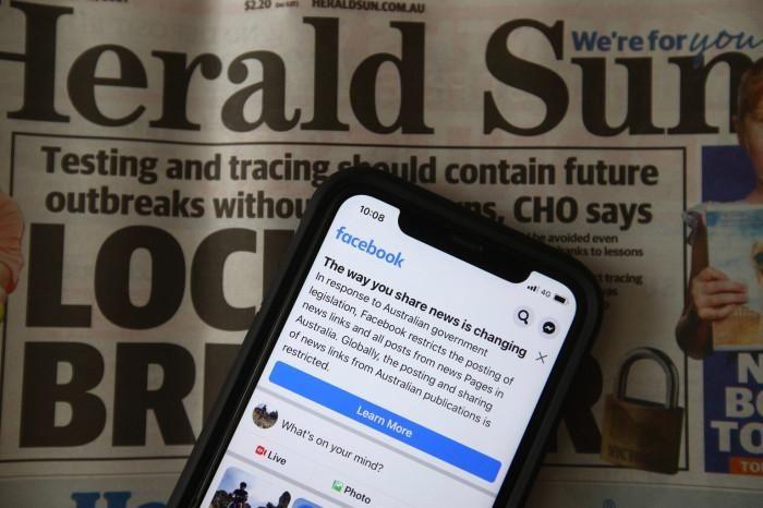 Sau hôm nay, cách chia sẻ tin tức báo chí qua Facebook ở Australia sẽ khác