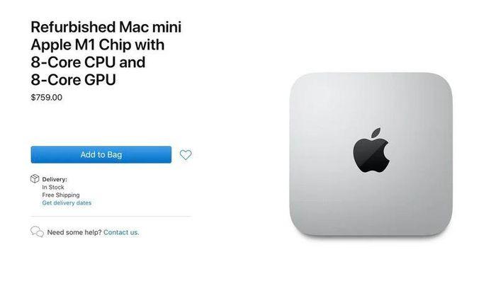 Sau MacBook M1, Apple bắt đầu bán máy Mac Mini M1 refurbished