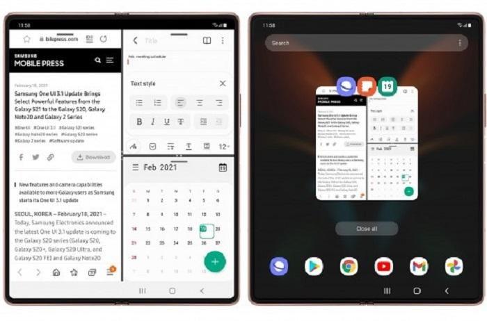 Bản cập nhật One UI 3.1 đã đến với Samsung Galaxy Z Fold2 5G