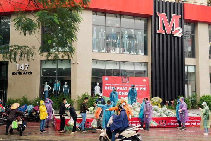 M2 Việt Nam phát miễn phí, giải cứu nông sản Hải Dương