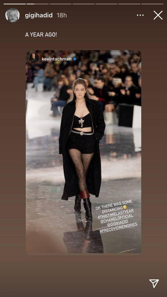 Gigi Hadid tái xuất sàn runway với khí chất ngút ngàn sau khi sinh con