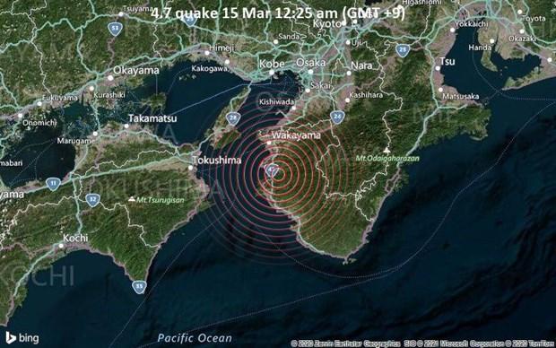 Nhật Bản: Động đất mạnh tại Wakayama, không có cảnh báo sóng thần