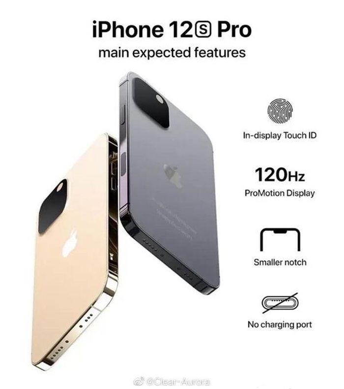 Rò rỉ hình ảnh concept iPhone 13 màu hồng với cổng sạc bị cắt bỏ