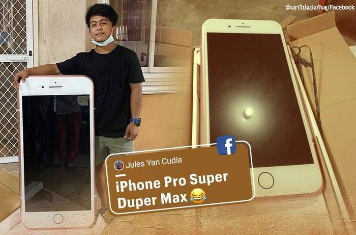 Đặt iPhone trực tuyến, nhận được 'iPhone siêu to khổng lồ'