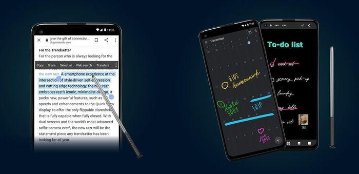 Hé lộ smartphone 5G giá mềm với bút cảm ứng của Motorola