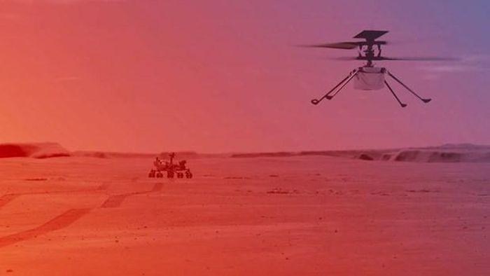 Trực thăng không người lái hoạt động tốt trên Sao Hỏa