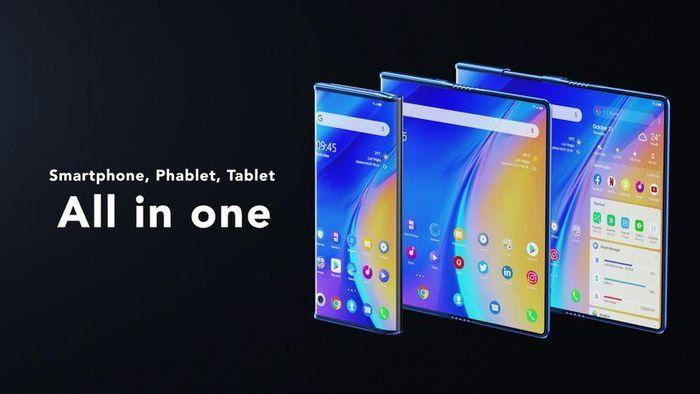 Điện thoại 'All-in-one' của TCL có màn hình gập và cuộn lại được