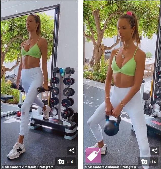 Alessandra Ambrosio mặc áo bra ra đường, thân hình tuổi 40 đáng ghen tỵ