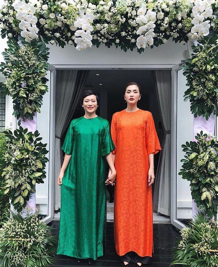 Hà Tăng diện áo dài nền nã đi làm phụ dâu, nhan sắc đỉnh cao chiếm hết spotlight cả buổi lễ vu quy