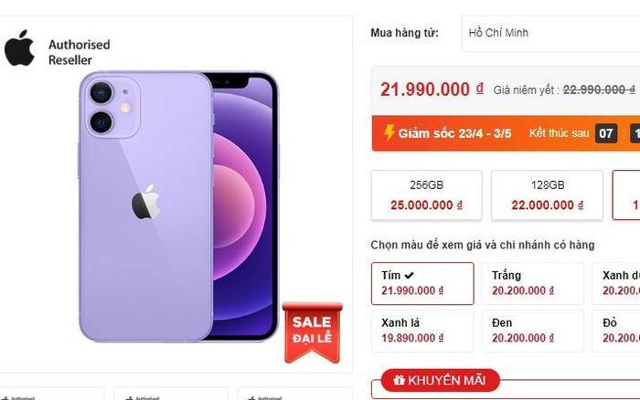 IPhone 12 'tím thủy chung' về Việt Nam vào đầu tháng 5