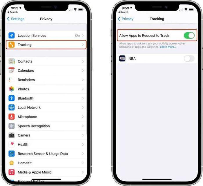 Mẹo ngăn ứng dụng theo dõi bạn trong iOS 14.5