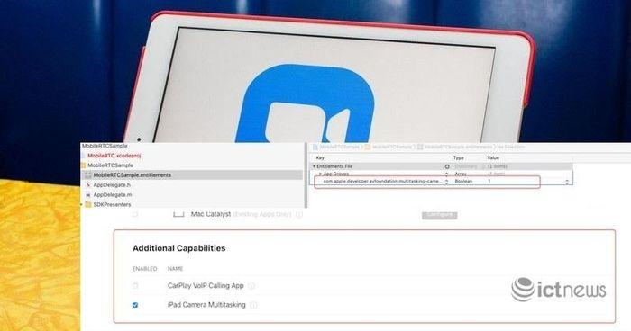 Duy nhất Zoom có quyền truy cập vào camera trên iPad