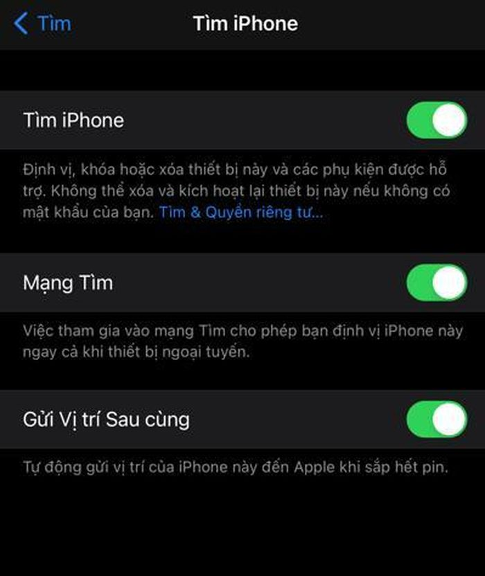 Cách tìm iPhone bị mất kể cả khi bị ngắt mạng với iOS 14