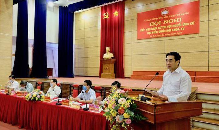 Ứng viên đại biểu Quốc hội khóa XV TP Hà Nội tiếp xúc cử tri huyện Sóc Sơn
